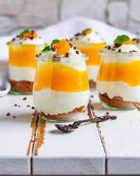 mascarpone quark dessert mit mandarinen