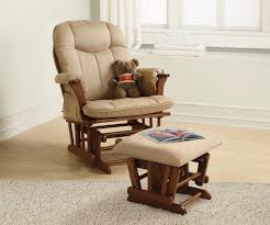 Baby Nursery Chic Baby Nursery Glider Rocking Chair With Brown