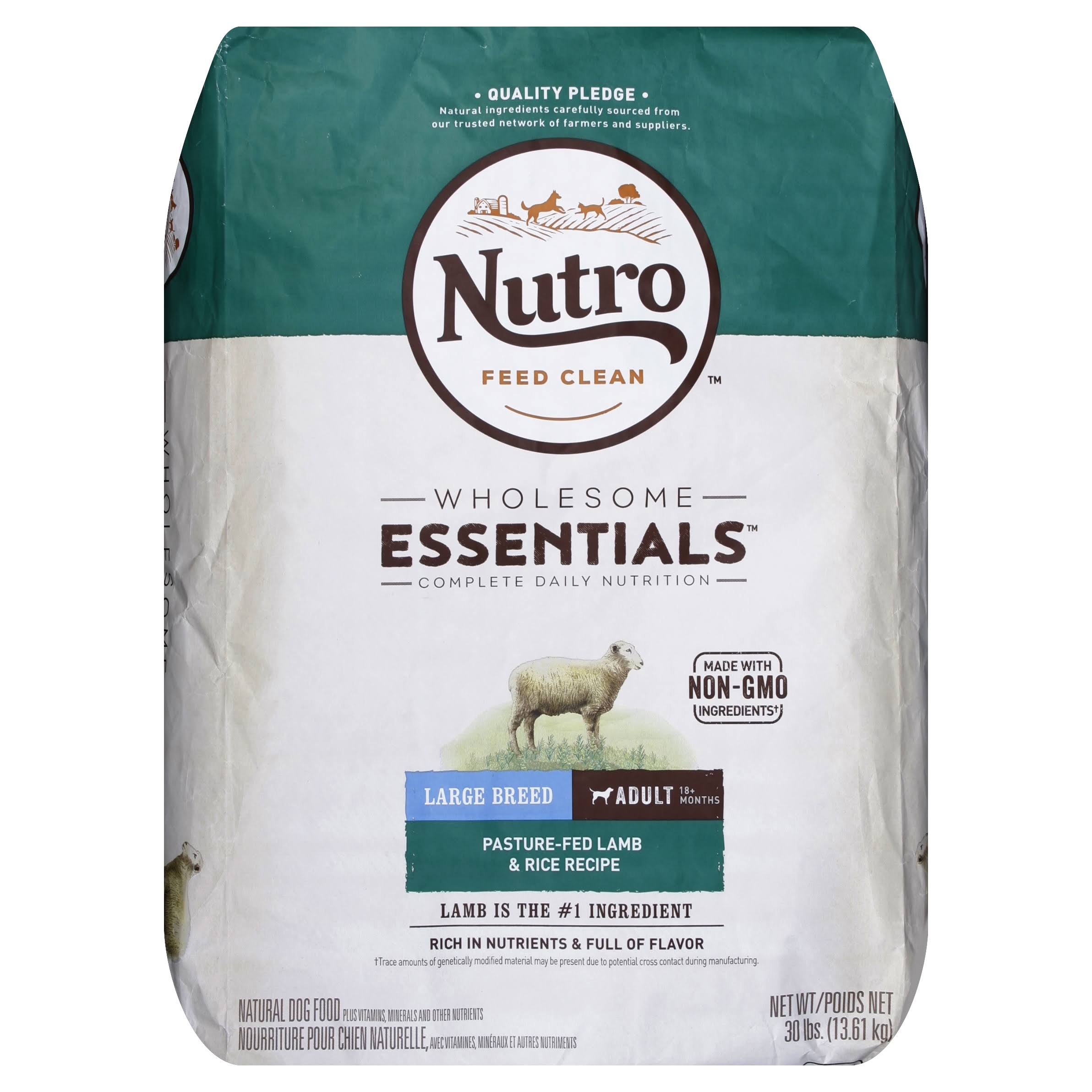 Nutro Large Breed Adult Dog Food - Lamb and Rice Recipe, 30lb
