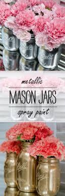 Cute DIY Mason Jar Ideas Metallic Jars