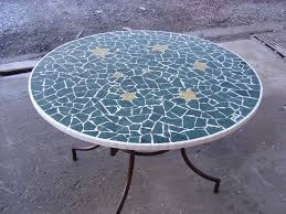 table ronde mosaique fer forge exceptional table ronde en mosaique 4 table jardin mosaïque en