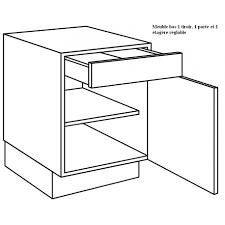 meuble bas cuisine 50 cm largeur meuble bas de cuisine 1 porte 1 tiroir largeur 50cm