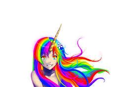 Unicorns Rainbows Wallpaper 1920x1200 Bright Soft