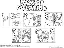 Days Of Creation Coloring Pages
