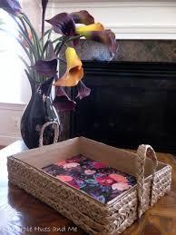 Braided Brown Craft Paper Tray DIY