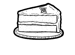 e Slice of Chocolate Cake Coloring Pages