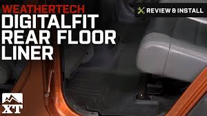 Quadratec Floor Mats Vs Weathertech by Jeep Wrangler Weathertech Digitalfit Rear Floor Liner Black