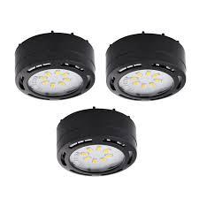 amax lighting ledpl3 120v led cabinet puck light 3 pack