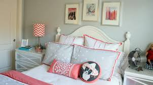 bedding set refreshing valuable coral and grey bedding target