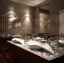 vasque à poser en marbre design original avec miroir