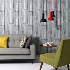 Wallpaper With Wood Look Living Room Wall Design Ideas