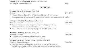 Resume Format English Good Teachers