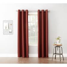 Lichtenberg Curtains No 918 by Semi Opaque Paprika No 918 Casual Montego Woven Grommet Top