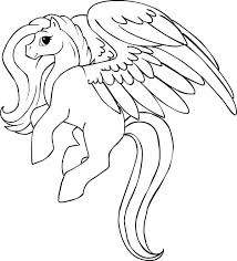 Pegasus Coloring Page Beautiful Cute Pages