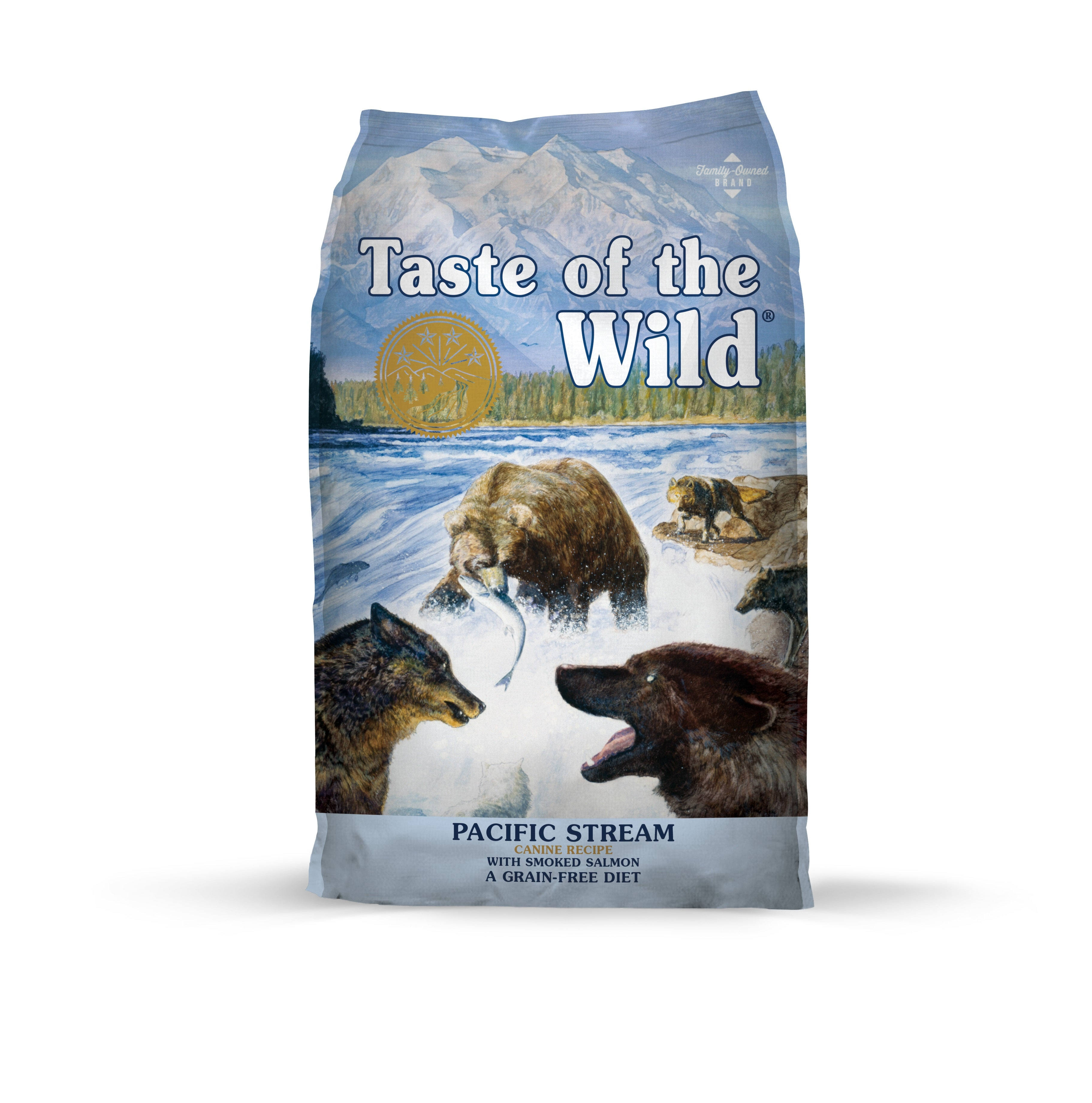 Taste of the Wild Dry Dog Food - Pacific Stream Canine Formula with Smoked Salmon