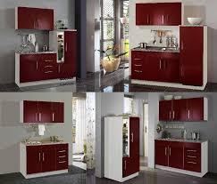 kompaktküchen singleküchen kleine küchen in rot moebel