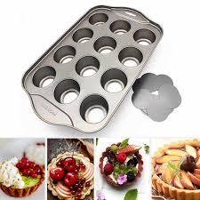 12 loch runde form küche gadgets backformen dessert werkzeug käsekuchen pan abnehmbare kuchen form backen zubehör nonstick