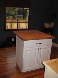 simple small kitchen island diy with chalk color and wooden