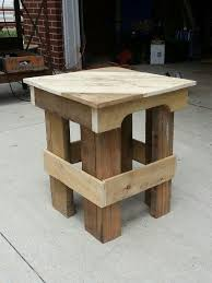 IMG 20130529 142027 Pallet End Table In Garden Furniture Outdoor Project With