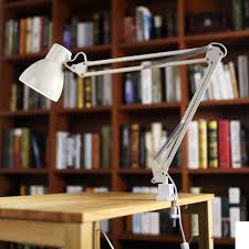 100 Lamp Architecture ToJane Metal Desk 30 Adjustable Swing Arm Architect Light Cclamp Mounted Table OfficeStudio White Finish