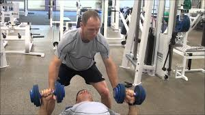 Spotting a Dumbbell Bench Press