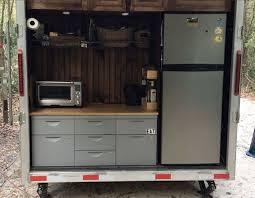 Kitchen In Our Cargo Trailer Camper Conversion