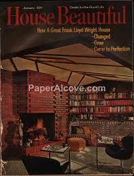 100 Modern Homes Magazine House Beautiful January 1963 Vintage Magazine Frank Lloyd Wright Midcentury Modern Homes