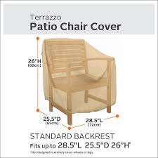Patio Chair Replacement Slings Amazon by Amazon Com Classic Accessories Terrazzo Patio Chair Cover All