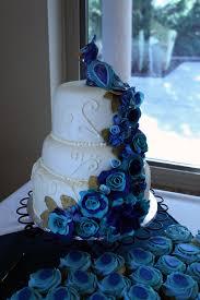 Layers of Love Peacock wedding cake