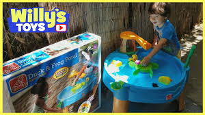 Step2 Rain Showers Splash Pond by Step2 Duck And Frog Pond Water Table Toy Review And Unboxing