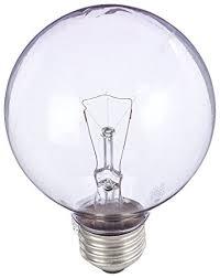 ge lighting 42360 60 watt g25 reveal globe clear incandescent