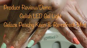 Gelish 18g Led Lamp Australia by Product Review Demo Gelish Led Gel Light 45 5 Youtube