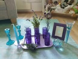 details zu glas dekoration lavendel lila türkis wunderschön
