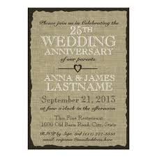 Rustic Burlap Wedding Anniversary Invitation