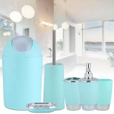 6tlg bad zubehör set badezimmer seifenspender wc bürste badgarnitur badausstattung grün