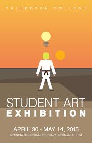 Student Art Exhibition Using A Small Figure It Gives The Impression Of Movie Poster Similar To That 80s Or An Action Film Due Use