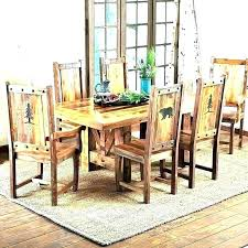 Distressed Dining Room Table Incredible Ideas Set