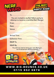 Nerf Gun Party Invitations To Inspire You How To Create The Party ...