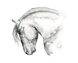 cadeau bureau homme impression équine cheval cheval blanc noir wall