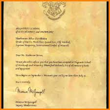 Template Harry Potter Hogwarts Acceptance Letter Template Generator