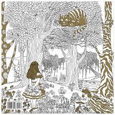 Alice In Wonderland Coloring Book Back Cover