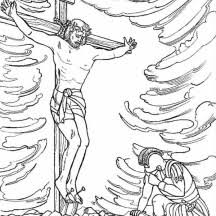 Crucify Of Jesus In Resurrection Coloring Page