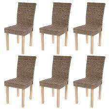 chaises en osier lot de 6 chaises de séjour littau chaise en osier rotin kubu