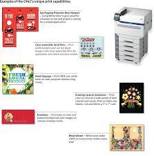 OKI C942 5 Color Laser Printer With White Toner