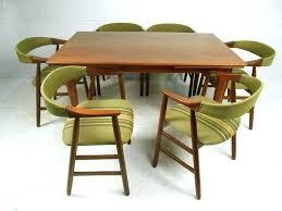 Danish Dining Table Set Mid Century Modern Room