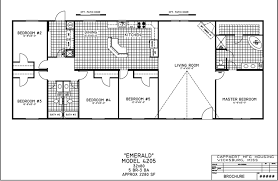 Triple Wide Modular Homes Floor Plans by Gallery Charming 5 Bedroom Mobile Homes 5 Bedroom Double Wide