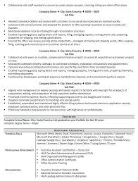 Administrative Assistant Resume Examples Skills Executive Resumes Example
