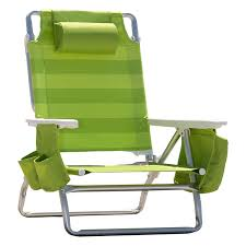 100 Nautica Folding Chairs Beach Chair WSide Cooler Pouch Cup Holders Lime Green
