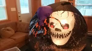 Halloween Inflatable Spider Archway by Gemmy 2006 Halloween Inflatable Whirlwind Globe Skull Version