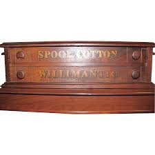 Antique Spool Cabinet Decals by Willimantic Spool Cabinet Sold On Ruby Lane